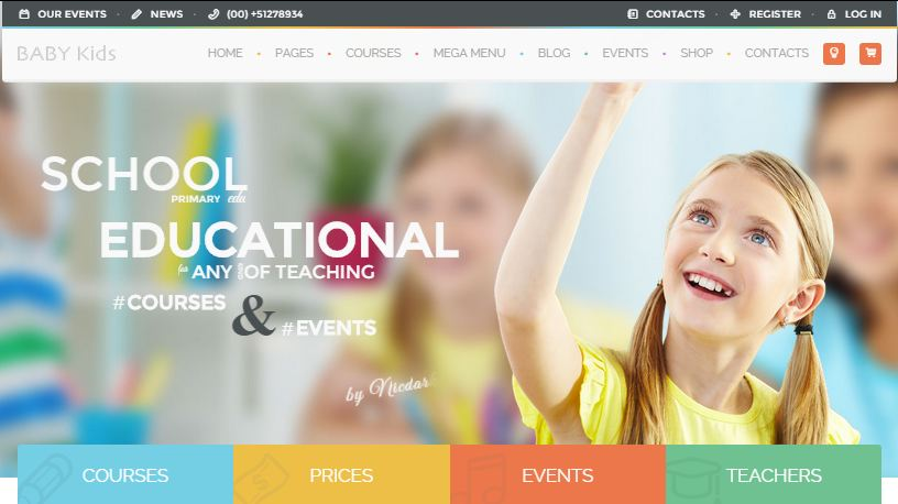 Baby Kids WordPress Education Themes