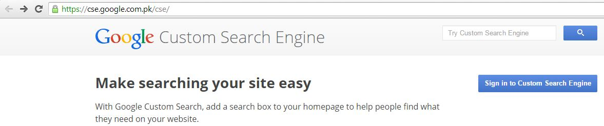 How to Create Custom Search Engine Step 1