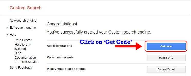 How to Create Custom Search Engine Step 3