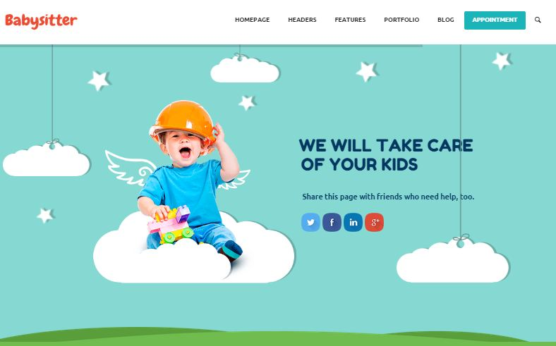 Kids Care WordPress Education Themes