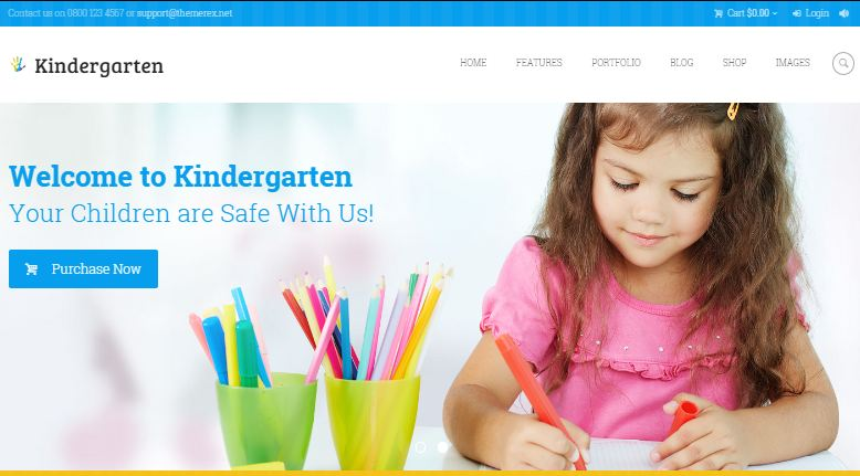 Kindergarten WordPress Education Themes
