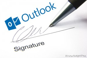 how to make an email signature in outlook