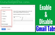 How to Enable and Disable Gmail New Inbox Tabs