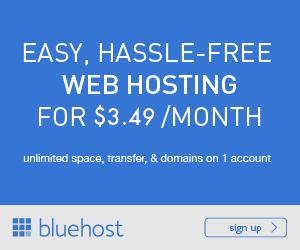 Bluehost Web Hosting Banner