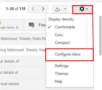 How to Enable and Disable Gmail New Inbox Tabs step 2
