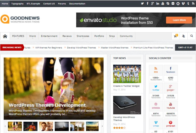 Good News WordPress Responsive News Magazine Theme
