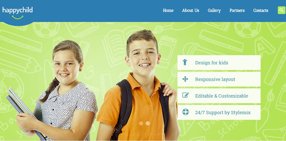 Happy Child WordPress Education Themes