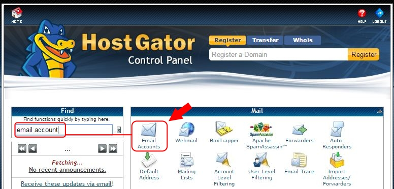 How To Create email Account From cPanel step 1