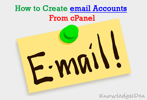 How To Create email Account From cPanel