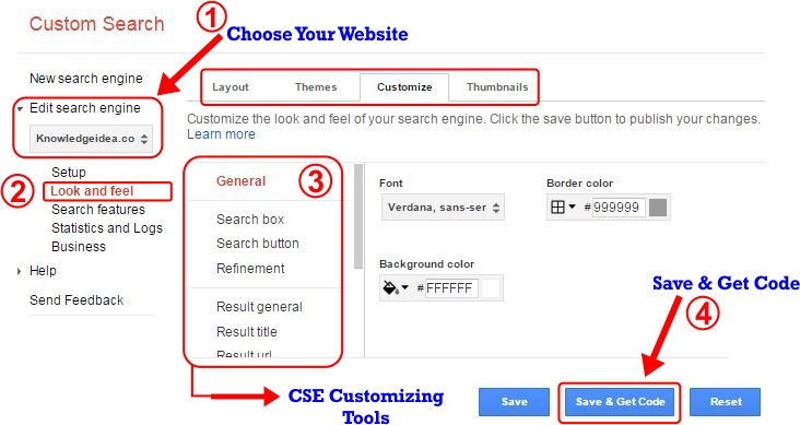 How to Create Custom Search Engine Step 4