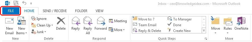 How to Take Backup Microsoft Outlook Step 1