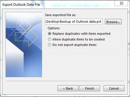 How to Take Backup Microsoft Outlook Step 6