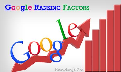 Top 10 Important Google Ranking Factors
