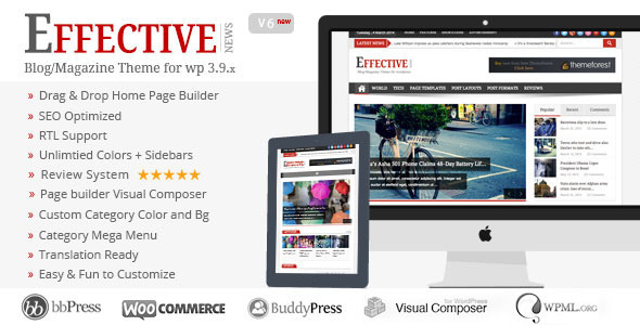 WordPress Premium Themes Effective News