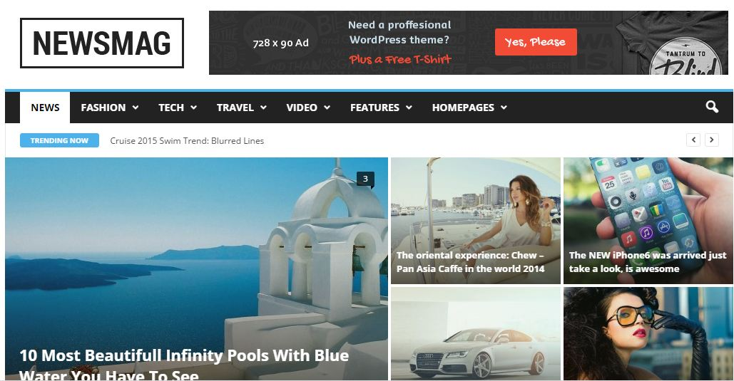 WordPress Premium Themes Newsmag