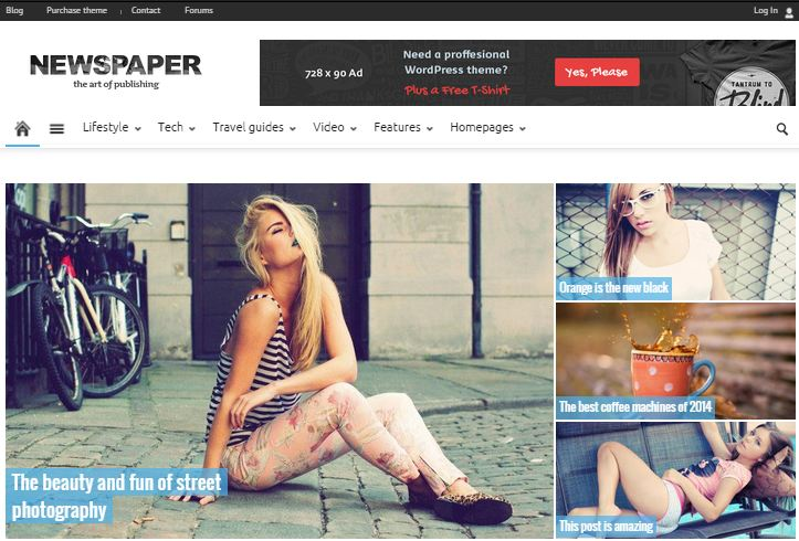 WordPress Premium Themes Newspaper