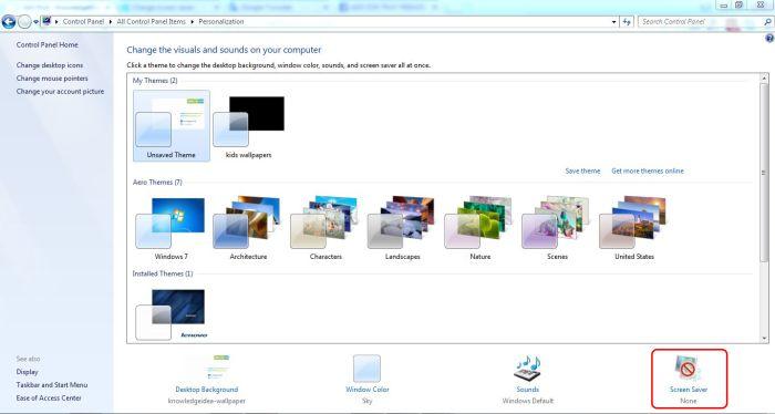 How to Change Window 7 Screen Saver step 2