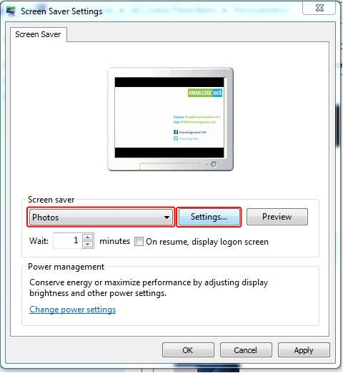 How to Change Window 7 Screen Saver step 3