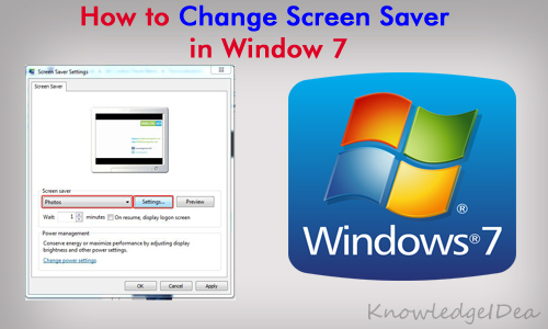 How to Change Window 7 Screen Saver