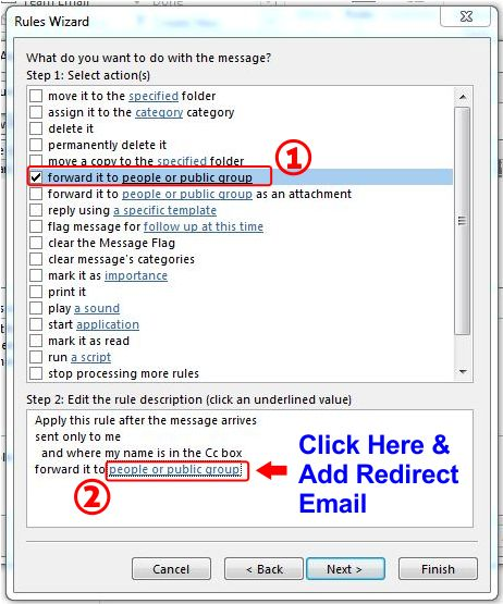 How To Redirect Outlook Emails To Another Email Address step 5