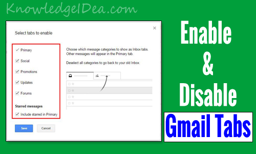 How to Enable and Disable Gmail New Inbox Tabs Guide