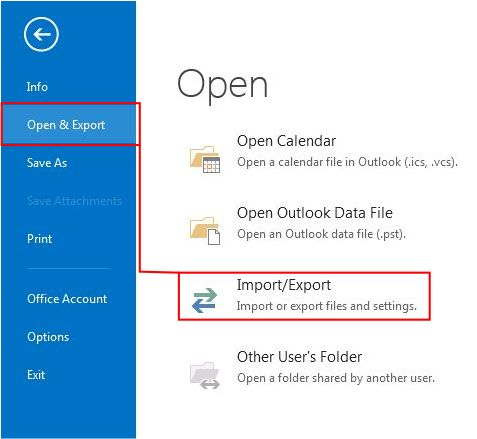 How to Export Outlook Contacts to Excel step 2